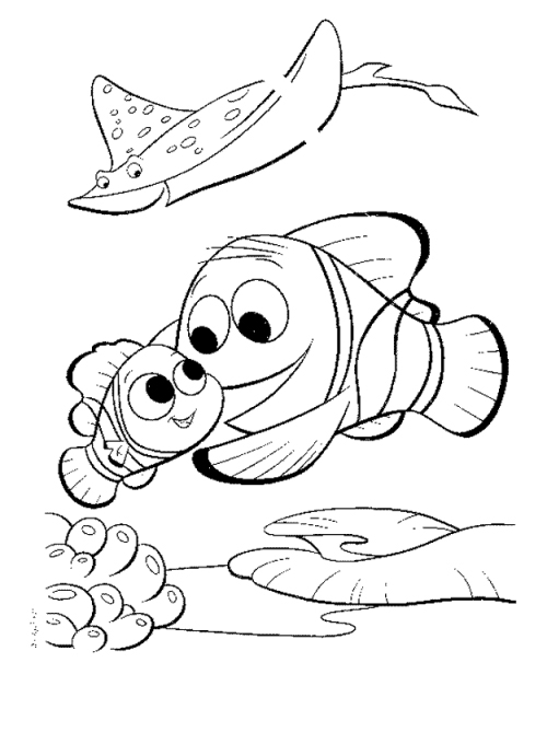 Disney Nemo Coloring Pages