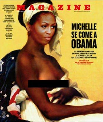 La polémica foto de Michelle Obama sin ropa