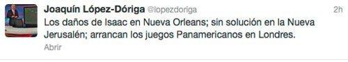El nuevo error en Twitter de Joaquín López-Dóriga 'El Teacher'