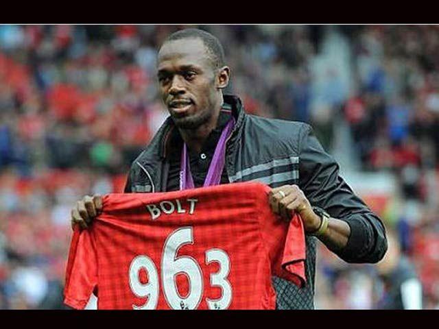 Usain Bolt en el Manchester United