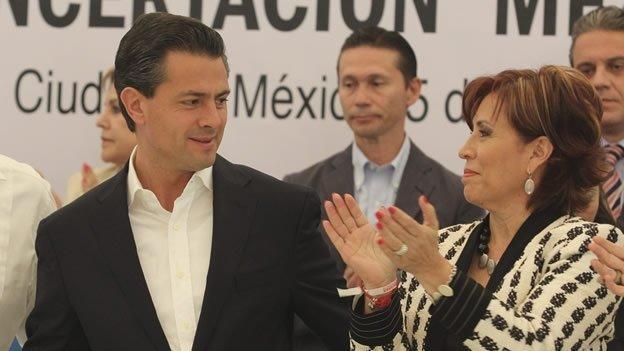 Quiénes acompañan a Peña Nieto en la transición