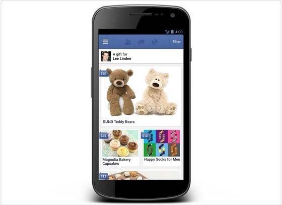 Nueva aplicación para comprar regalos a través de Facebook