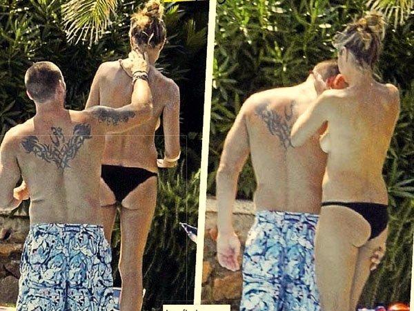 Fotos del topless de Heidi Klum junto a su nuevo novio