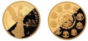 Independencia de México con moneda de oro de un kilo
