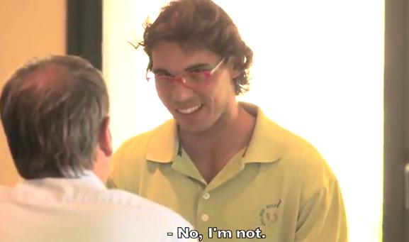 Video: Camara oculta de Rafael Nadal