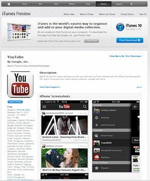Nueva versión de Youtube para iPhone