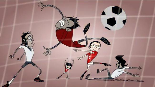'Chicharito United', la caricatura del goleador mexicano