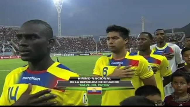 Pasan el Himno Mexicano en partido Venezuela vs. Ecuador - Video