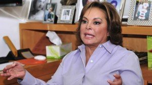 Elba Esther Gordillo en contra de la reforma laboral
