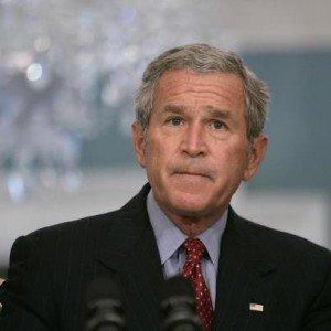 George Bush padece agorafobia - El extraño temor de George Bush