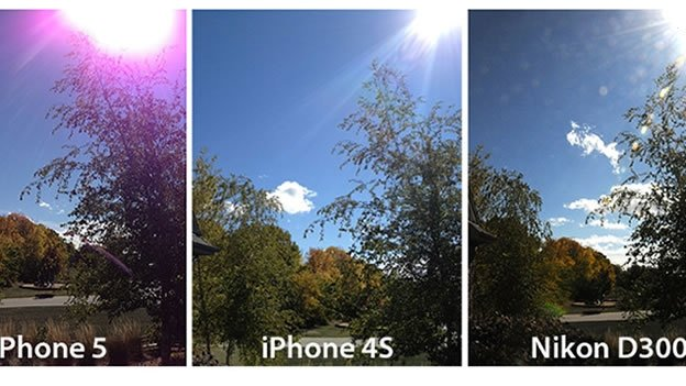 Por qué las fotos del iPhone 5 de Apple salen moradas