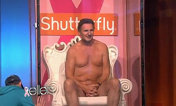 Liam Neeson subasta su cuerpo al natural en TV - Video