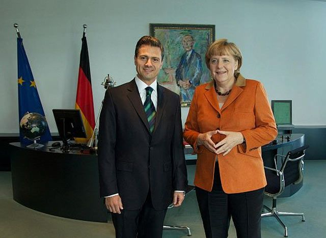 La reunión privada de Enrique Peña Nieto y Angela Merkel - Video