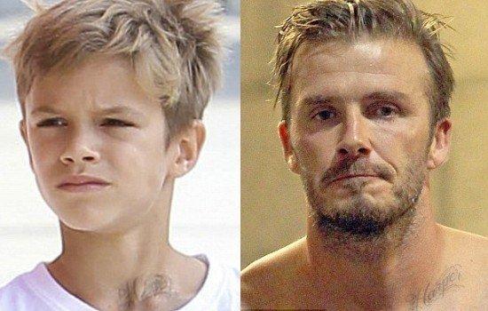 El hijo de David Beckham se tatúa el nombre de su hermanita