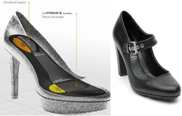 Crean zapatos de taco alto con la comodidad de las zapatillas