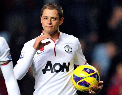 'Chicharito' Hernandez titular en el Manchester United