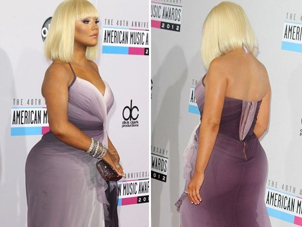 El look de Christina Aguilera en los American Music Awards