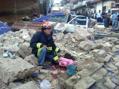 Siete muertos por sismo en Guatemala