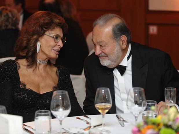 Sofía Loren y Carlos slim inician romance?