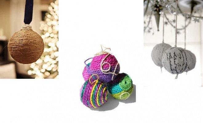 Ideas para armar esferas para el árbol de Navidad
