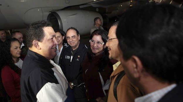 El regreso de Hugo Chávez a Venezuela - Video