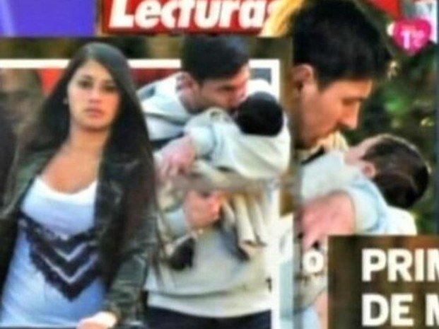 Foto de Thiago el hijo de Lionel Messi