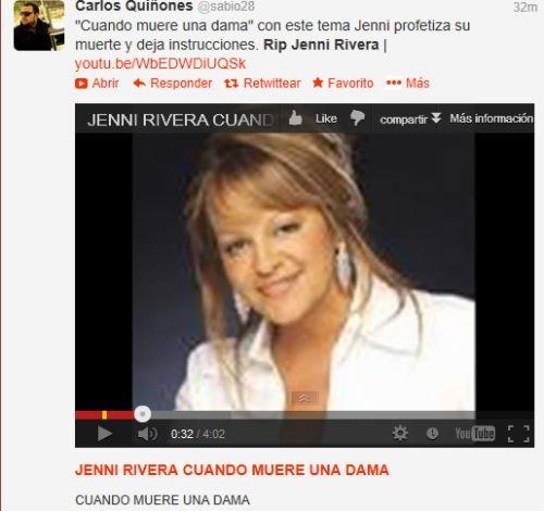 ¿Jenni Rivera predijo su muerte?