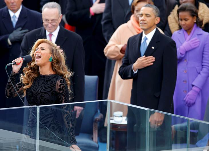Polémica: Beyoncé hizo playback en la protesta de Barack Obama - Video