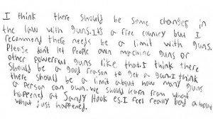 Insólita carta de un niño a Obama sobre el control de las armas