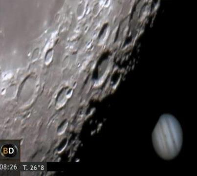 Video espectacular: La Luna se come a Júpiter