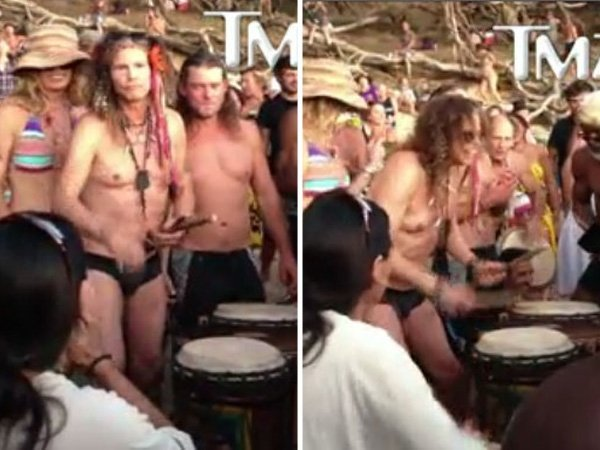 Video: Steven Tyler tocando en zunga