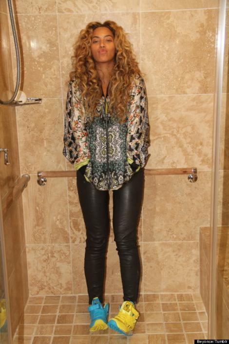 Foto de Beyoncé en la ducha