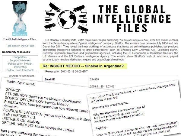 Wikileaks: El artel de Sinaloa se extiende hasta Argentina