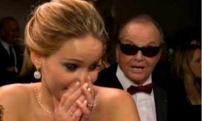 Video: Jack Nicholson se lanza a Jennifer Lawrence