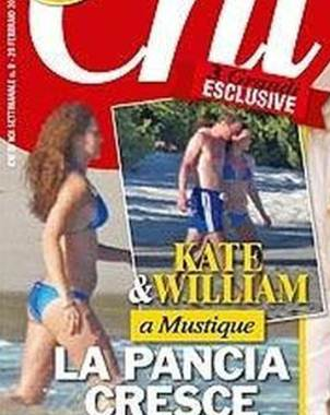 Fotos de Kate Middleton embarazada y en bikini