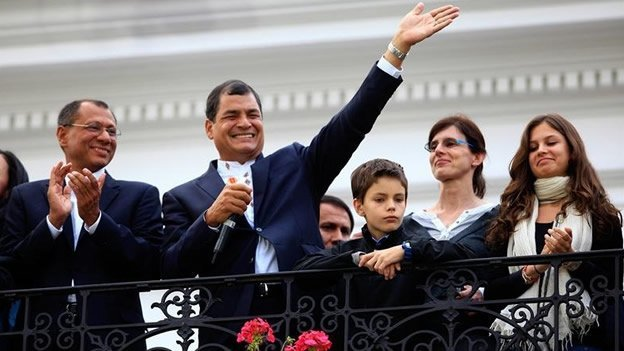 Rafael Correa gana la reelección en Ecuador