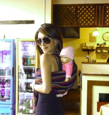 Foto: Anahí ensaya para ser mamá