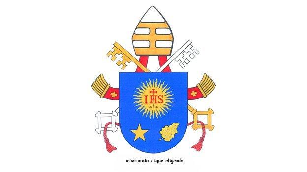 Cuál es el lema del nuevo escudo papa