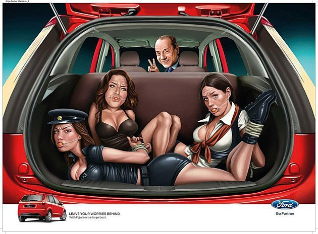 El anuncio escandaloso de Ford con Silvio Berlusconi