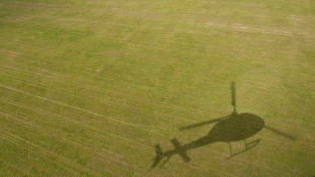 Reos escapan de la cárcel en helicóptero