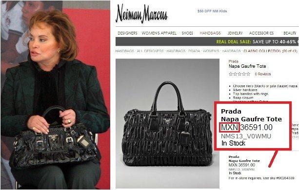 ¿Cuánto cuesta ir de shopping al estilo Elba Esther Gordillo?