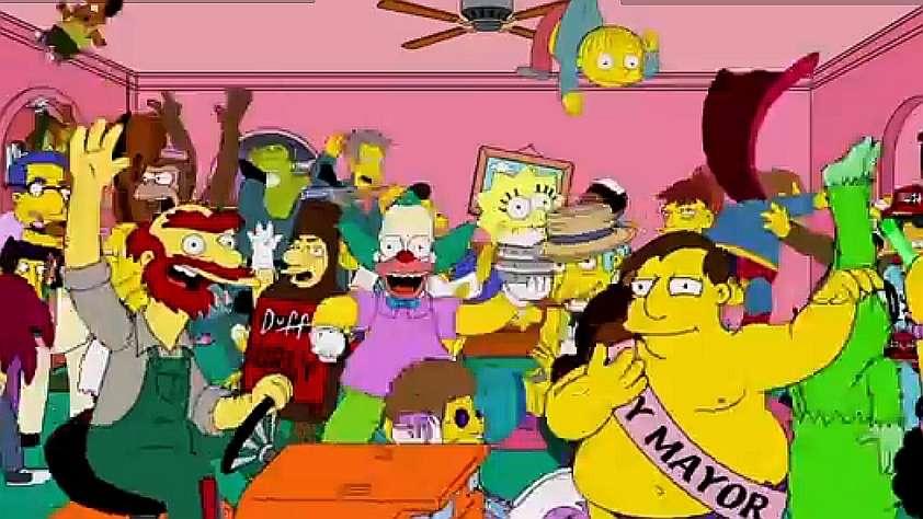 Video furor: Los Simpson al ritmo de 'Harlem Shake'