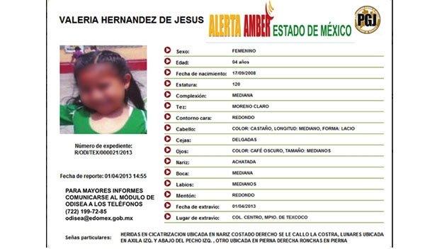 Encuentran a niña mexicana en El Salvador a través del 'Alerta Amber'