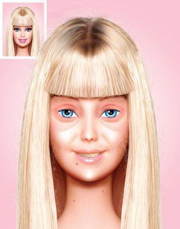 Foto imperdible: Así es Barbie sin maquillaje