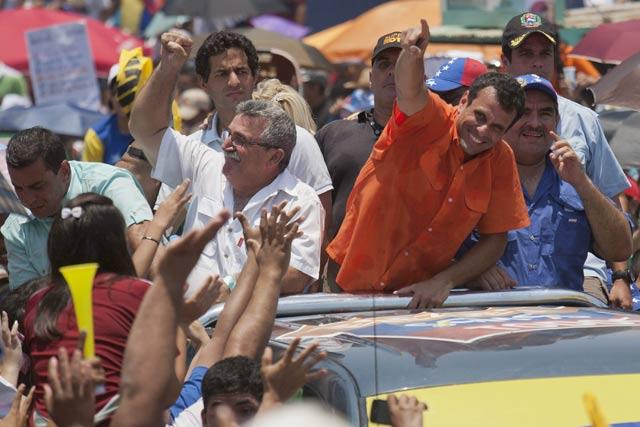 El cierre de campaña de Henrique Capriles y Nicolás Maduro