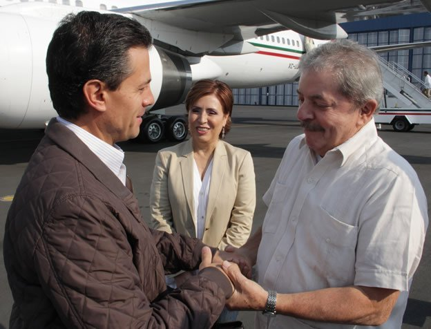Enrique Peña Nieto y Lula da Silva de gira juntos