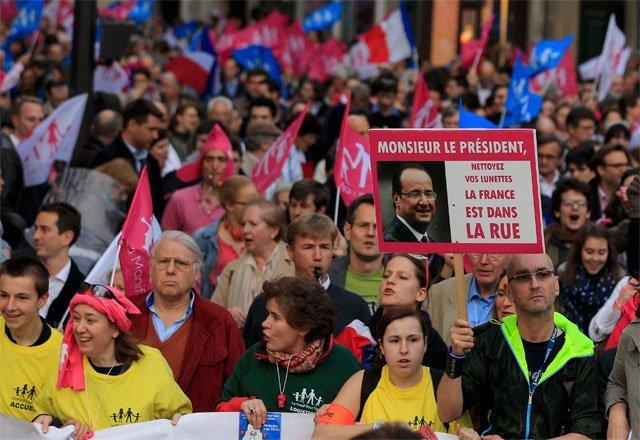 Diputados franceses amenazados de muerte por ley de matrimonio gay