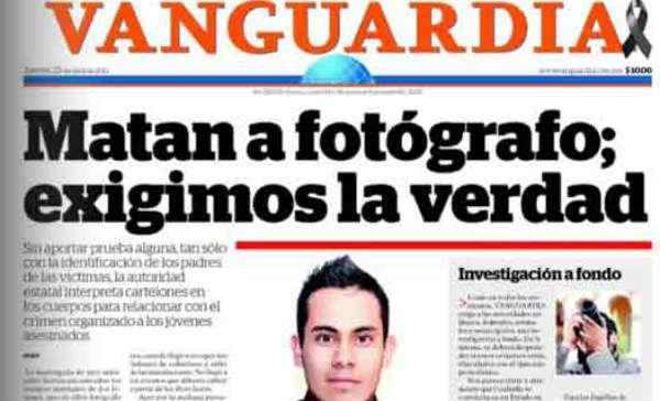 Procurador: Fotógrafo de Vanguardia tenía vínculo con criminales