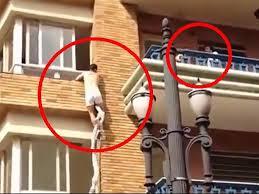 Video: Amante escapa por la ventana