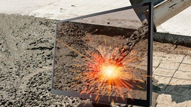 Un láser convierte el cemento en metal líquido